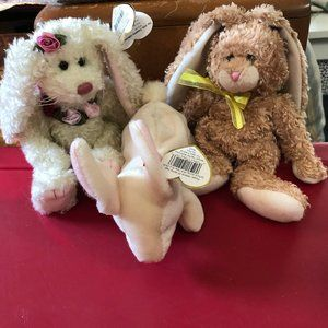 Bunny Rabbit Plush Ty Beanie Babies Easter 3